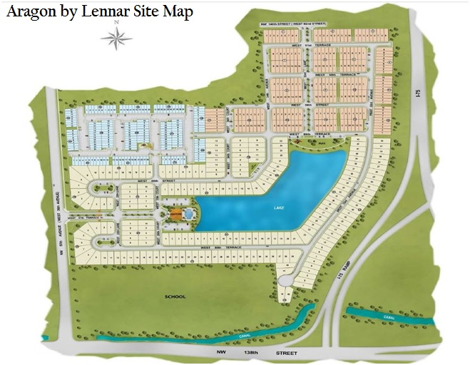 Aragon by Lennar Site Map